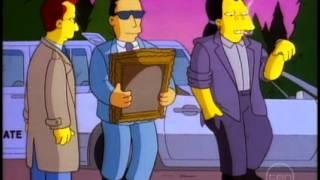 The Simpsons German man gets grandpa Simpsons war treasure artwork