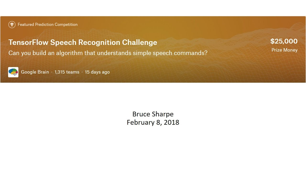 Kaggle Meetup: Speech Recognition Challenge - YouTube
