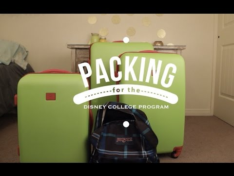 Dcp How To Pack For The Disney College Program Youtube