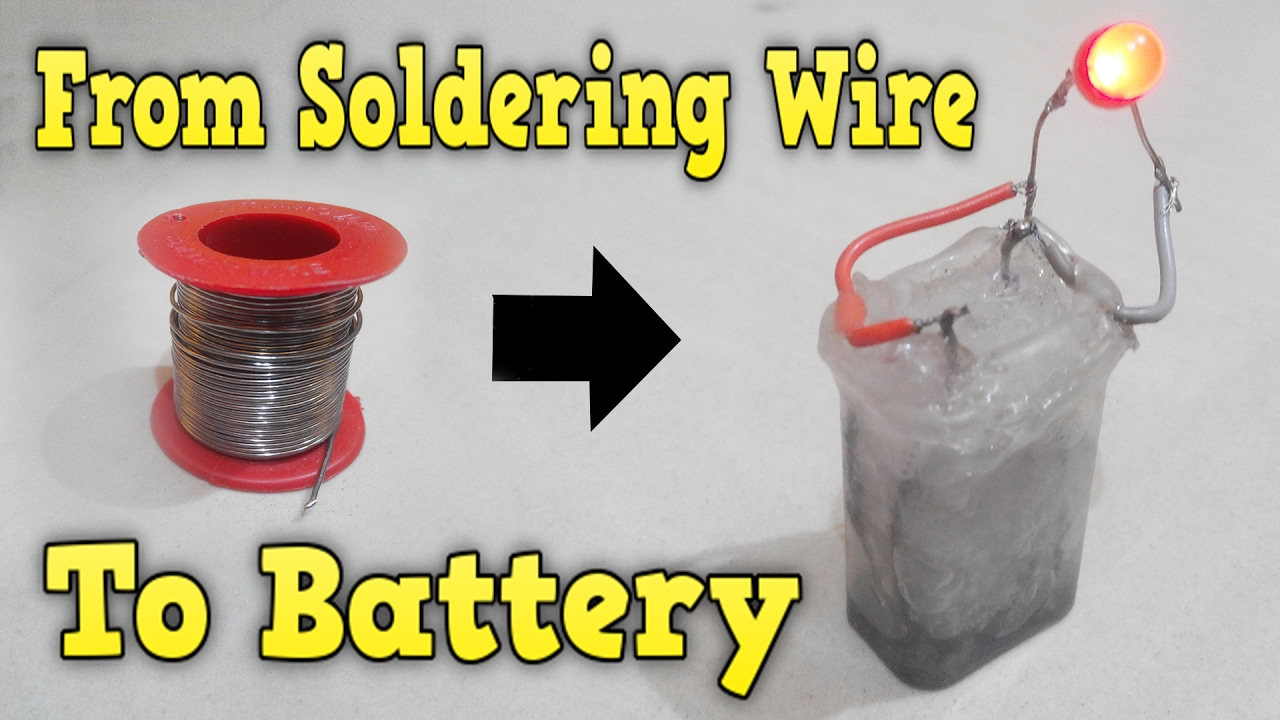How to make battery from soldering wire Rechargeable very easy - YouTube