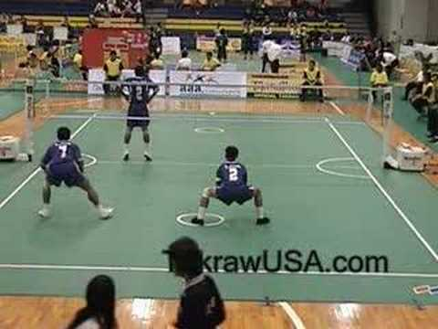 Thailand Vs Laos : Sepak Takraw Doubles King's Cup 2008
