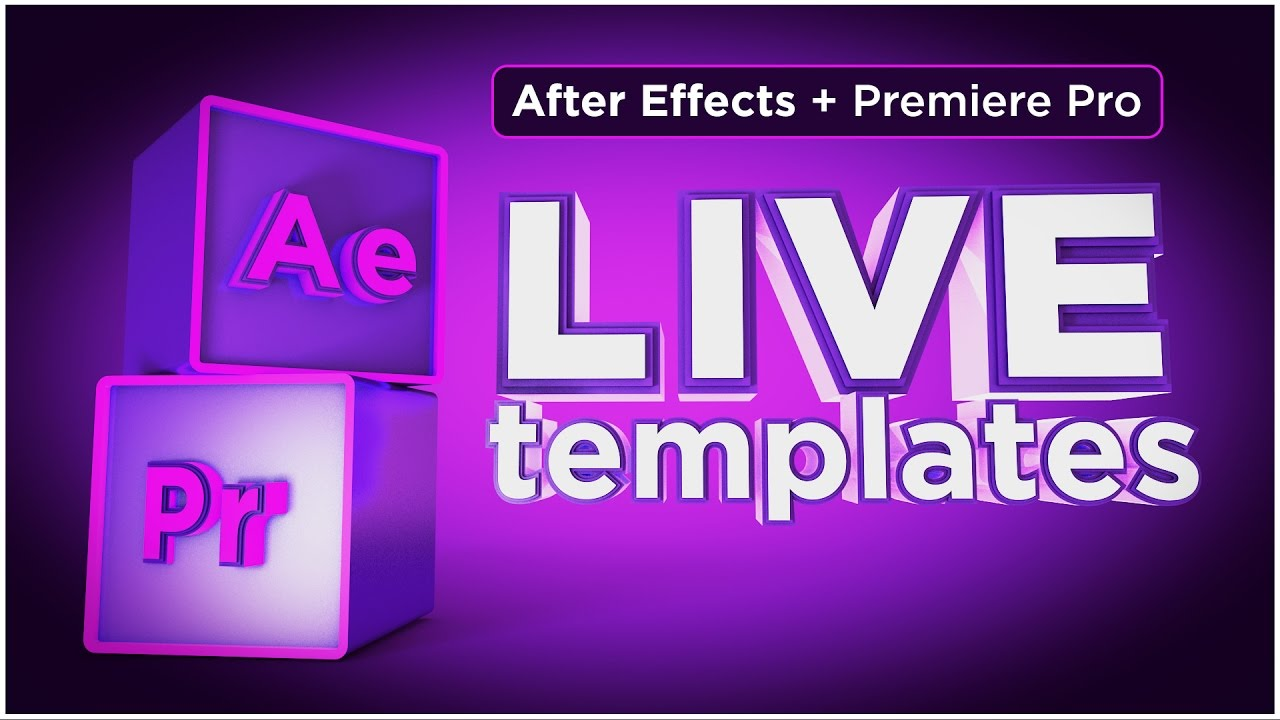 How to use live text templates from after effects in premiere pro.