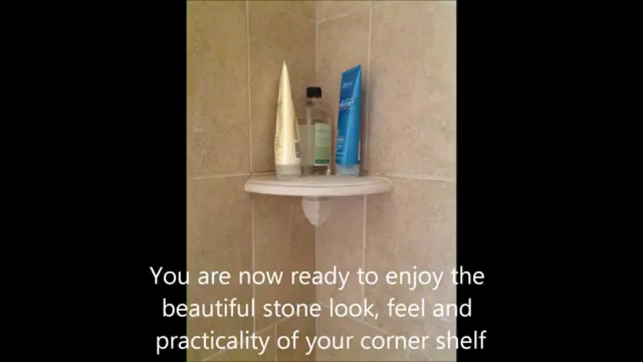 How To Install Attach A Shower Corner Shelf On A Tile