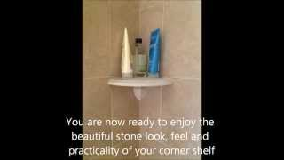How To Install A Corner Shelf On Existing Wall Tile