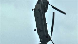 RAF Chinook helicopter -- dynamic display -- Eastbourne 2013