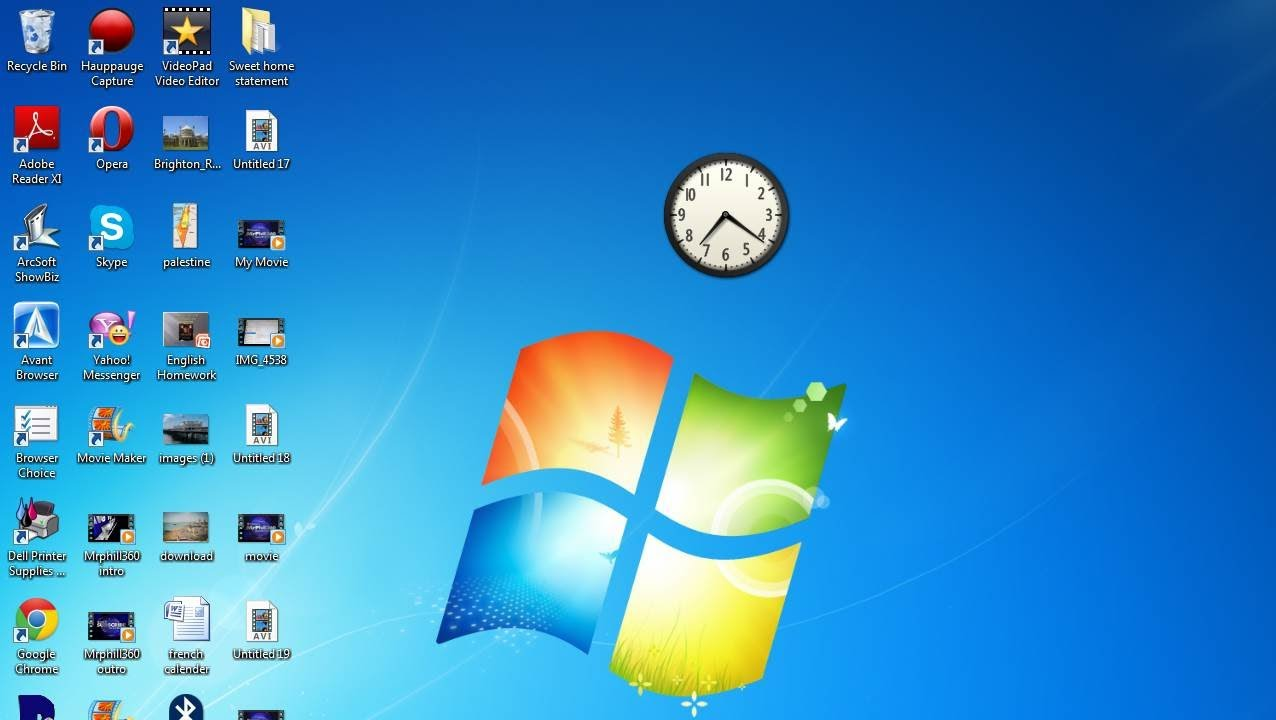 How To Add A Clock To Your Desktop On Your PC/Laptop-HD