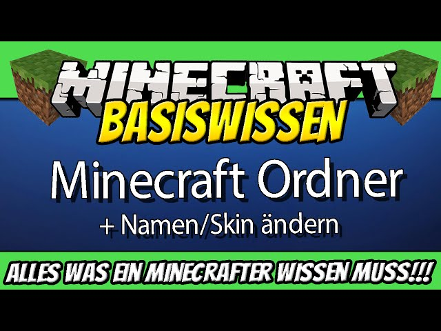 Minecraft Basiswissen Tutorials DEUTSCH Minecraft All U Need - Minecraft namen andern tutorial