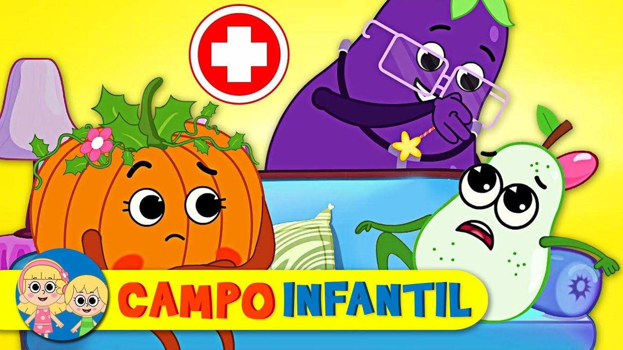 Cinco frutitas saltando en la cama - Canciones infantiles | Campo Infantil