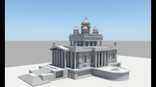 Temple Modeling in maya part 1