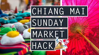 Sunday Night Market Chiang Mai // HOW TO GET THE BEST DEALS // THAILAND