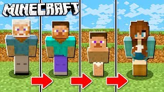 IF Minecraft had a REVERSE Life Span! (Born Old and Die a Baby!)
