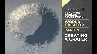 World Creator Introduction - PART 5 - Creating A Crater