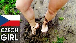 CZECH GIRL FEET IN MUDDY WATERS