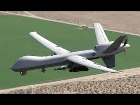 US Air Force LOOKING FOR BAD GUYS with RQ 9 UAV Aircraft