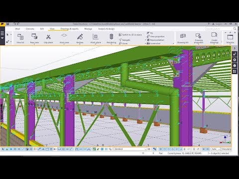 How to create Gutter Downspout | Tekla Structures 2017