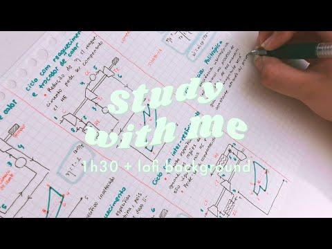Study With Me #3 ♡ 1h30 De Estudos + Lofi