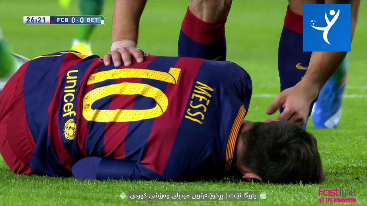 Lionel Messi Horror Injury Barcelona Vs Real Betis 2015
