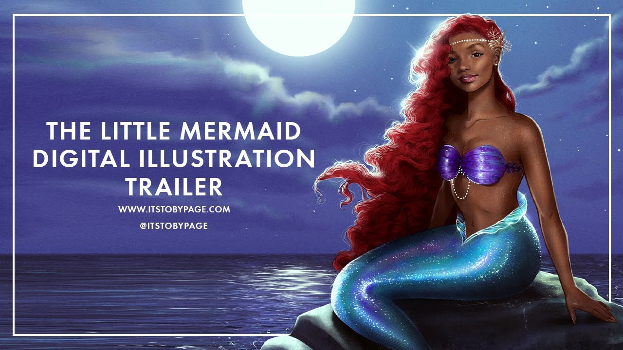 The Little Mermaid Digital Painting - Halle Bailey - Trailer