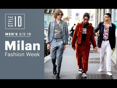 Style ID: Milan Fashion Week Men's S/S 19