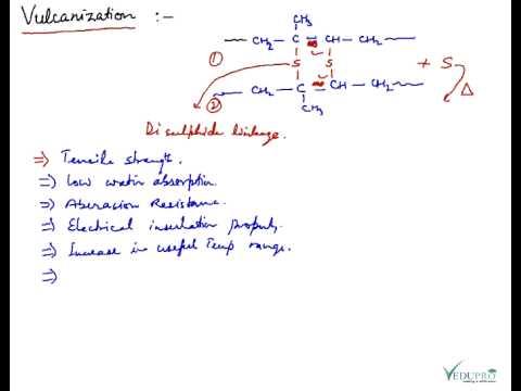 Elastomer (Rubber), Vulcanization of Rubber, Neoprene, Nitrile Rubber, Buna-S, Buna-N