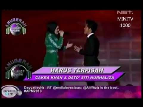 Siti Nurhaliza & Cakra Khan - Harus Terpisah (APM 2013)