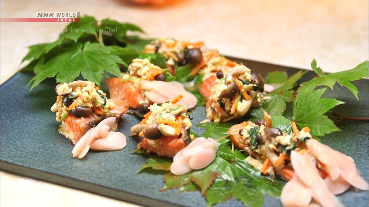 Photo of Chef Saito's Nishiki-yaki Steamed Salmon [Japanese Cooking] – Dining with the Chef – video