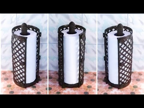 How to make a kitchen towel holder using newspaper/DIY newspaper craft