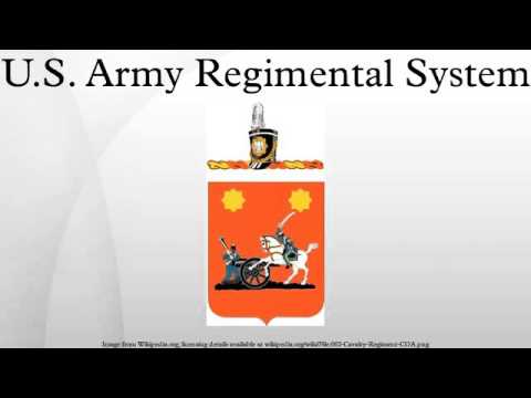 U.S. Army Regimental System