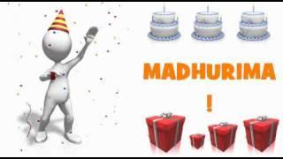 HAPPY BIRTHDAY MADHURIMA!