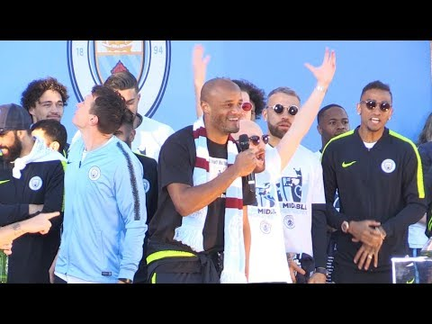 Vincent Kompany Says Goodbye To City Fans During Trophy Parade