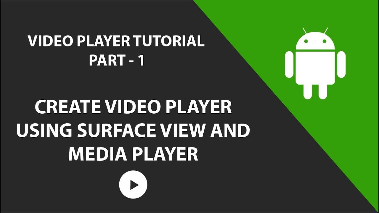 Creating a Video Player using Surface View and Media Player in Android |  PART 1|