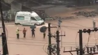 Mangalore flood / ambulance block in flood