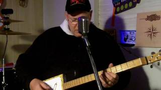 cigar box guitar  Black Betty by Leadbelly Ice Bob