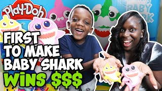 First To Make Baby Shark  With PlayDoh Wins $$$