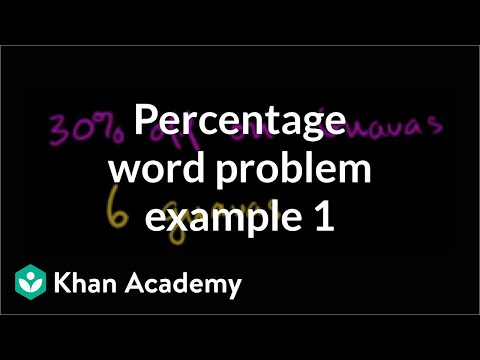Percent word problem example 1 | Ratios, rates, and percentages | 6th grade | Khan Academy