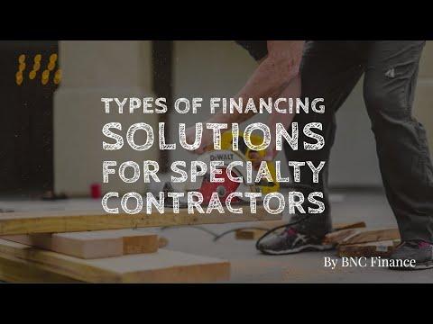 Contractor Equipment Financing; Equipment Leasing