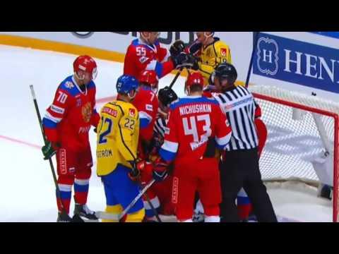 Россия швеция хоккей обзор матча видео