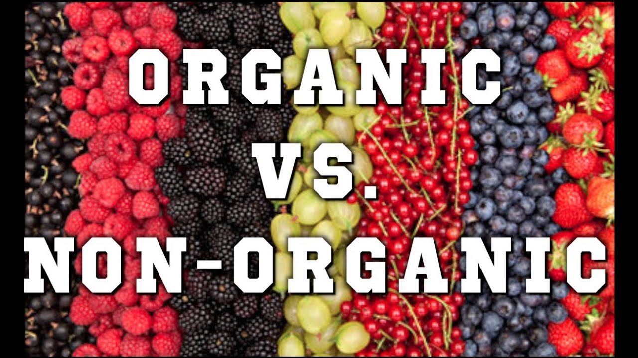 "organic vs non organic foods ""organic produce did have the slight edge in food safety, with 30% lower pesticide residues than conventional foods"" 30% is a 'slight edge' when it comes to organic over non -organic foods."