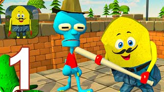 Sponge Family Neighbor 3: Scary Escape 3D Game - Gameplay Walkthrough Part 1 (Android,iOS)