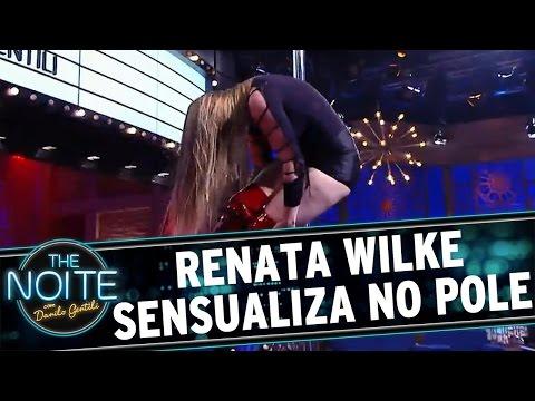 The Noite (04/05/16) - Renata Wilke sensualiza com seu Pole Dance
