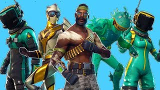 "Fortnite LEAKED Skins ""Bandolier"", ""Venturion"", ""Toxic Trooper"" - ""Dip"" Yeet emote & More!"