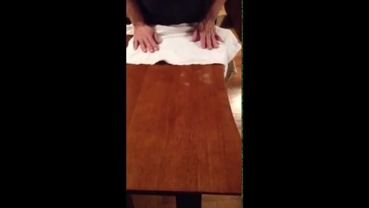 How To Remove White Heat Stains From Wood Table, Part One