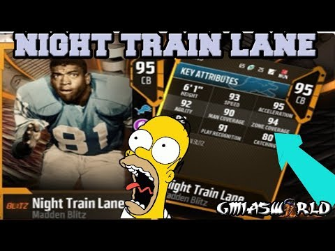 Just As I Predicted, NIGHT TRAIN LANE Will Be The Blitz Black FRIDAY Master Player In Madden NFL 18