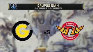CLUTCH GAMING VS SK TELECOM T1 | WORLDS 2019 | GRUPOS DÍA 4 | League of Legends