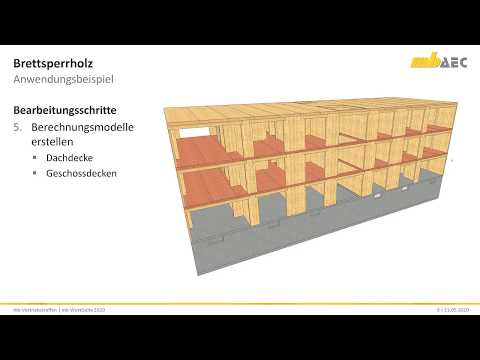 Brettsperrholz In Der Mb WorkSuite 2020 - Teil 1: Einstieg In Das Beispielmodell