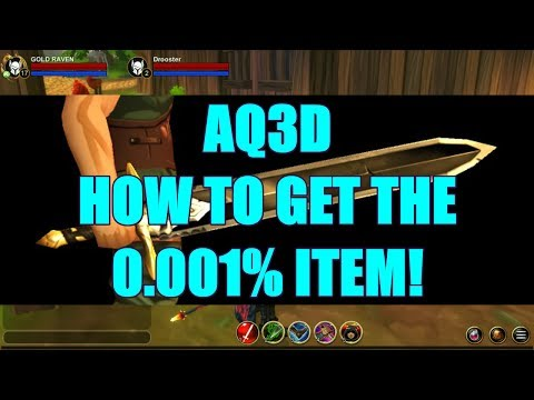 AQ3D How To Get The 0 001% ITEM! AdventureQuest 3D