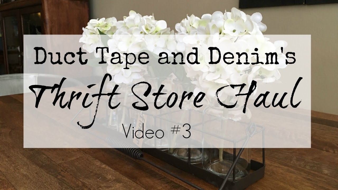 Thrift Store Haul Video 3 Home Decor Youtube