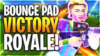 BOUNCE PAD FOR THE WIN! - FORTNITE BOUNCER PAD ITEM GETS ME A VICTORY ROYALE!