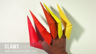 Origami for Kids: How to make an origami for Halloween | Paper Claws