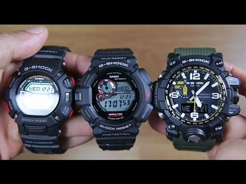 CASIO G-SHOCK MUD SERIES   G-9000 VS G-9300 VS GWG-1000 - SIDE BY SIDE 3a8c66fe5
